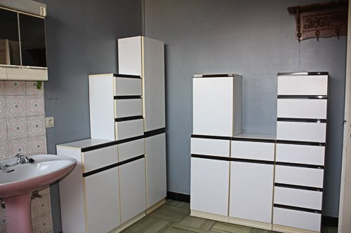 Bathroom demolition cupboards