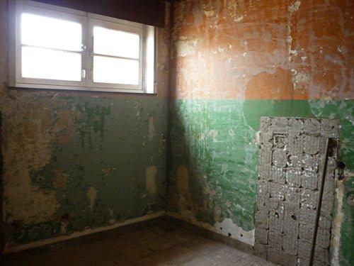 Bathroom demolition clean wall 1