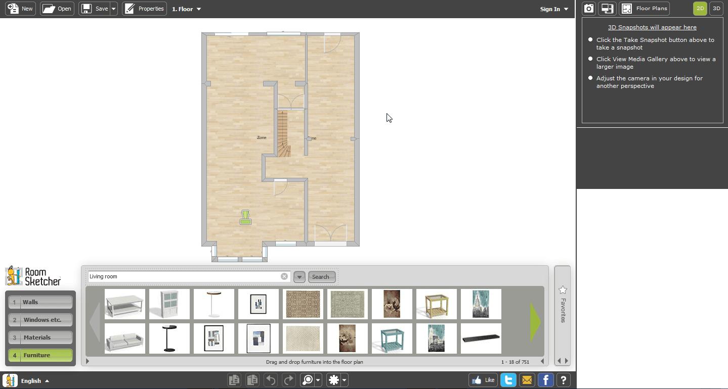 Quest for the best online floor planning tool townhousehome for Online floor plan tool