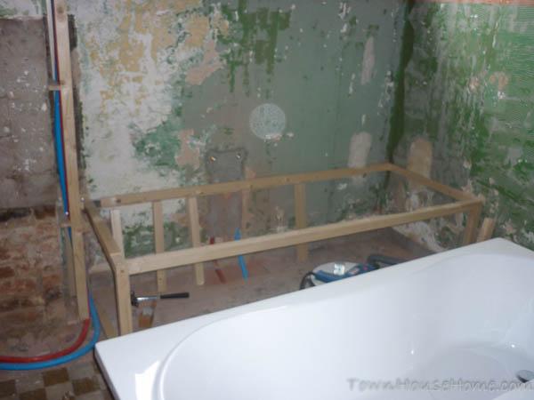 Bath starting frame