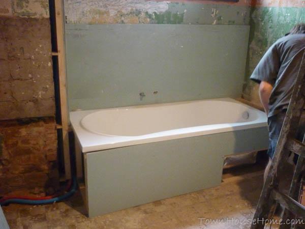 Bath with drywall