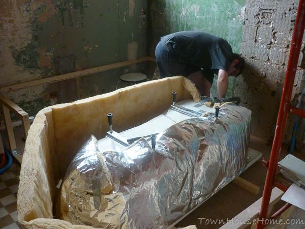 Bath wrapping insulation