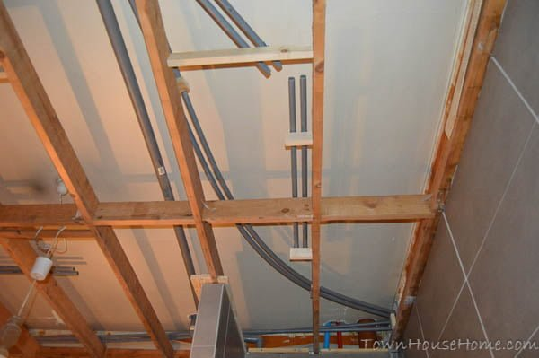 Bathroom ceiling tubes 2