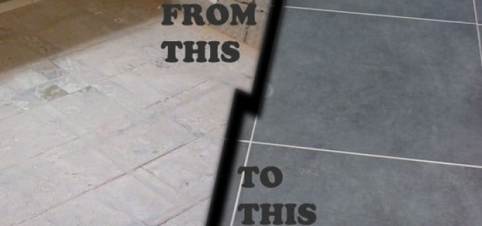 Featured bathroom floor