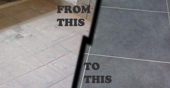 Featured bathroom floor
