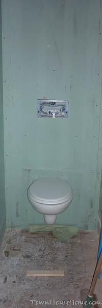 Finished toilet