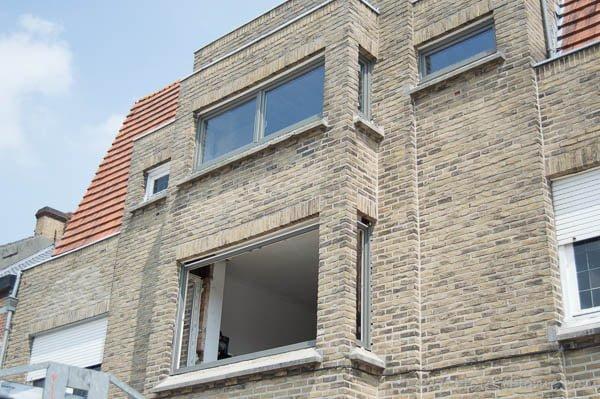 Front facade half