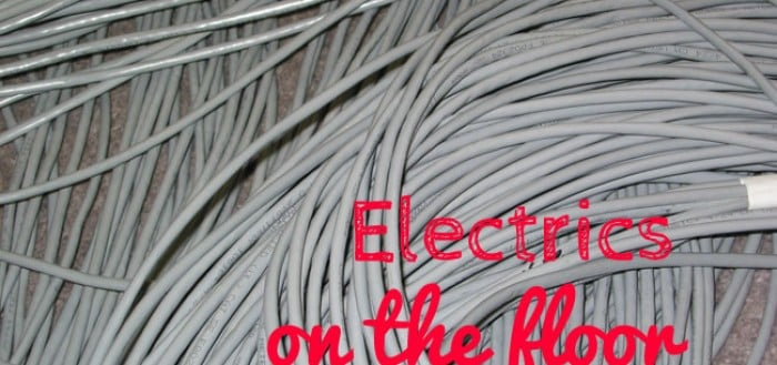 Laying electric cables featured