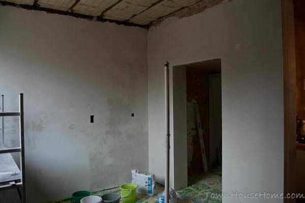 Plastered walls large walls done