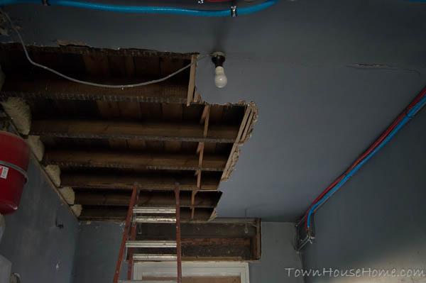 Storage rippin ceiling halfway