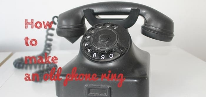Making an old phone ring - TownHouseHome