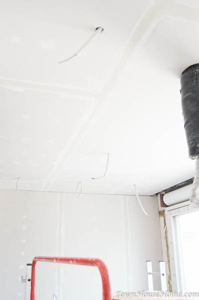 mud n tape ceiling first layer of mud