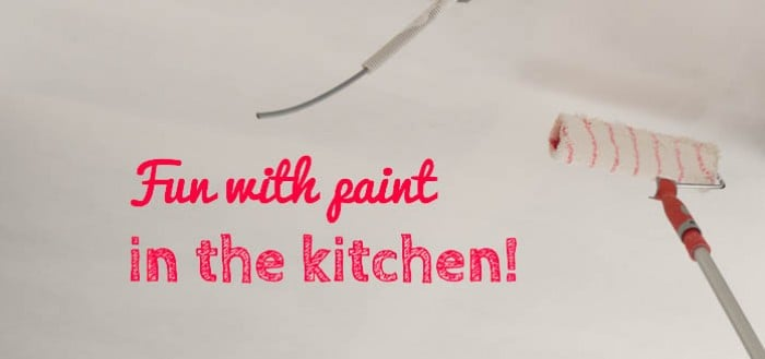 fun with paint in the kitchen featured