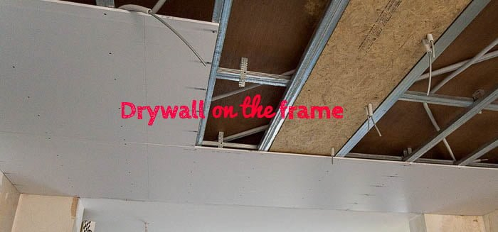 living drywall ceiling featured